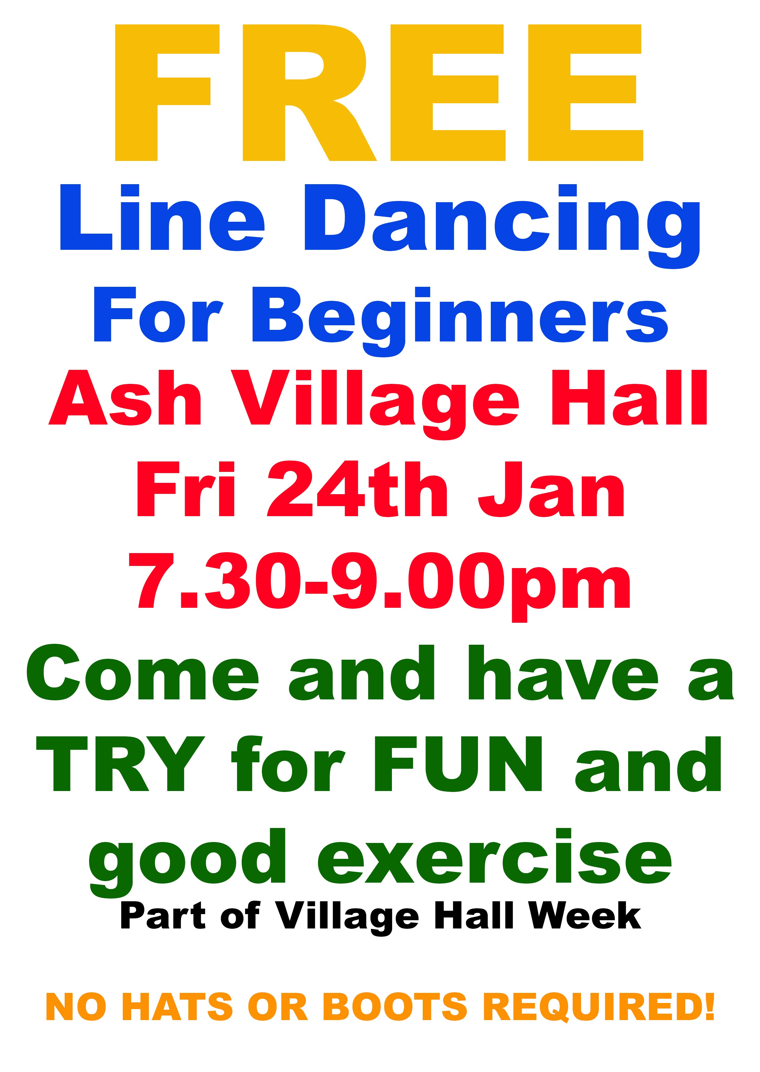 Poster Line Dance